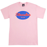 THRASHER OVAL T-SHIRT PINK