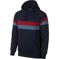 Nike M NK SB HOODIE ICON STRIPES OBSIDIAN/TEAM CRIMSON/TEAM CRIMSON