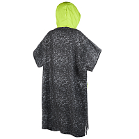 Mystic PONCHO ALLOVER BLACK/LIME