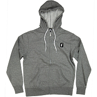 CRABGRAB CLAW PATCH ZIP HOODY GREY
