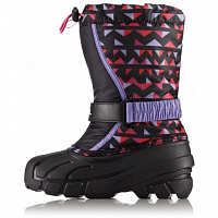 Sorel YOUTH FLURRY PRINT Black, Pink Ice