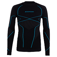 BodyDry K2 LONG SLEEVE SHIRT Black/Blue