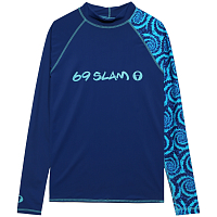 69slam DIEGO L/S RASH VEST CANDY SPLASH