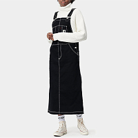 Carhartt WIP W' BIB SKIRT LONG BLACK (RINSED)
