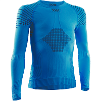 X-Bionic INVENT 4.0 SHIRT ROUND NECK LG SL JR TEAL BLUE/ANTHRACITE