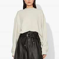 Proenza Schouler White Label Long Sleeve Sweatshirt ECRU SMALL ADDRESS