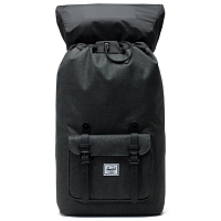 Herschel Little America Black Crosshatch/Black Rubber