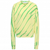 Proenza Schouler White Label TIE DYE Sweatshirt Modified Reglan OLIVE GREEN/PALE YELLOW