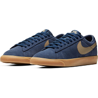 Nike SB ZOOM BLAZER LOW GT MIDNIGHT NAVY/KHAKI-GUM LIGHT BROWN