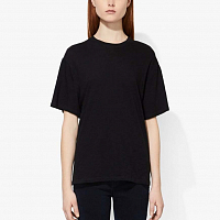 PROENZA SCHOULER WHITE LABLE CLASSIC SHORT SLEEVE SHIRT BLACK