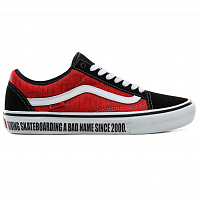 Vans MN OLD SKOOL PRO (Baker) black/white/red