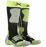 X-Socks SKI JR 4.0 ANTHRACITE MELANGE/GREEN LIME
