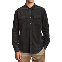 RVCA FREEMAN CORD LS PIRATE BLACK