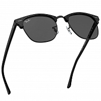 Ray Ban Clubmaster TOP WRINKLED BLACK ON BLACK/DARK GREY