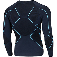 BodyDry MAKALU LONG SLEEVE SHIRT Black/Blue
