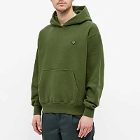 POLAR SKATE CO PATCH HOODIE HUNTER GREEN