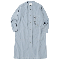 And Wander CORDURA TYPEWRITER LONG SHIRT L.BLUE