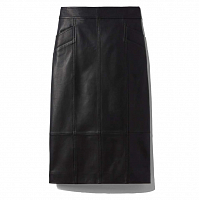 Proenza Schouler White Label Lightweight Leather Pencil Skirt BLACK
