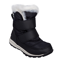 Sorel Childrens Whitney Velcro Black, Sea Salt