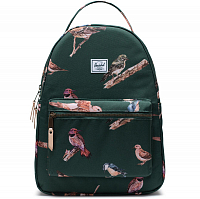 Herschel NOVA MID-VOLUME DARK GREEN BIRDS