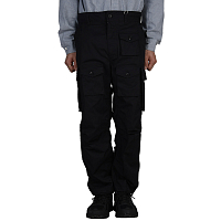 ENGINEERED GARMENTS FA PANT BLACK HIGH COUNT TWILL