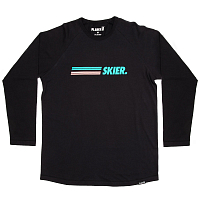 Planks Skier Long Sleeve T-shirt BLACK
