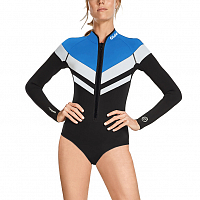 Glidesoul SPRINGSUIT 1 MM FRONT ZIPPER BLACK/BLUE/WHITE