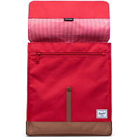Herschel CITY MID-VOLUME RED/SADDLE BROWN