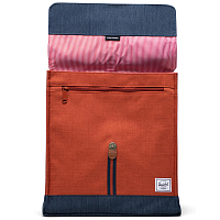 Herschel CITY MID-VOLUME INDIGO DENIM/PICANTE CROSSHATCH/TAN