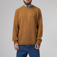 Carhartt WIP ANGLISTIC SWEATER HAMILTON BROWN HEATHER