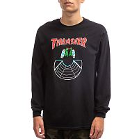 Thrasher DOUBLES-L/S BLACK