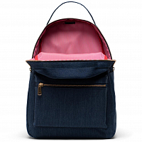 Herschel NOVA MID-VOLUME INDIGO DENIM CROSSHATCH