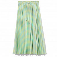 Proenza Schouler White Label Georgette Pleated Skirt SHDWLIME/BLGLSS DIFF GING