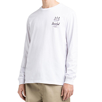 Herschel LONG SLEEVE TEE BASQUIAT BRIGHT WHITE/RECORD