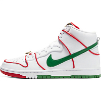 Nike SB DUNK HIGH PRM QS WHITE/UNIVERSITY RED-WHITE-CLASSIC GREEN