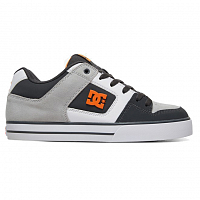DC PURE M SHOE DARK GREY/ORANGE