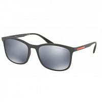 Prada Linea Rossa 0PS 01TS GREY RUBBER/POLAR DARK GREY MIRROR SILVER