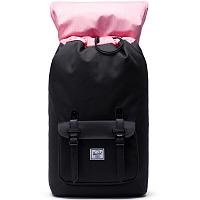Herschel Little America BLACK/BLACK SYNTHETIC LEATHER