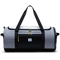 Herschel SUTTON CARRYALL MID GREY CROSSHATCH/LIGHT GREY CROSSHATCH/BLACK