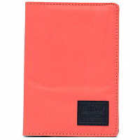 Herschel RAYNOR PASSPORT HOLDER RFID HOT CORAL REFLECTIVE/BLACK