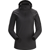 Arcteryx RHO LT HOODED ZIP NECK WOMEN'S BLACK