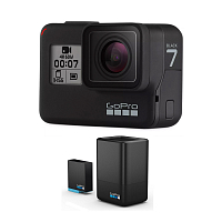 GoPro HERO7 BLACK EDITION + DUAL BATTERY CHARGER + BATTERY 0
