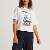 Levi's® GRAPHIC BOXY TEE SNOOPY TORCH RUNN