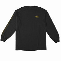 Real Skateboards RL L/S CAT SCRATCH BLACK