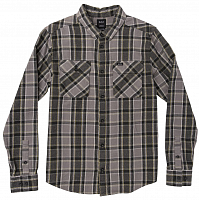 RVCA THATLL WORK FLANNEL SMOKE