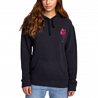 RVCA FUDGE PO HOODIE WASHED BLACK