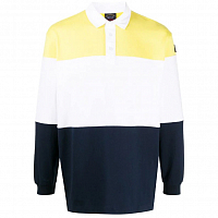 Paul & Shark COLOR BLOCKED RUGBY SHIRT YELLOW WHITE BLUE