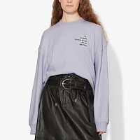 PROENZA SCHOULER WHITE LABLE LONG SLEEVE SWEATSHIRT LAVENDER SMALL ADDRESS