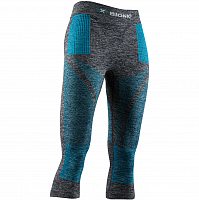 X-Bionic Energy Accumulator 4.0 Melange Pants 3/4 WMN DARK GREY MELANGE/WATER GREEN