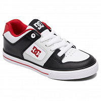 DC PURE B SHOE BLACK/GREY/RED